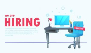 we-are-hiring-banner-with-office-workspace-and-sign-vacant-and-inscription-business-recruiting-concept-vector-cartoon-illustration